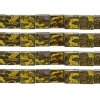 Miyuki Tila Beads 5X5mm 2 Hole Yellow Brown with yellow Picasso Opaque